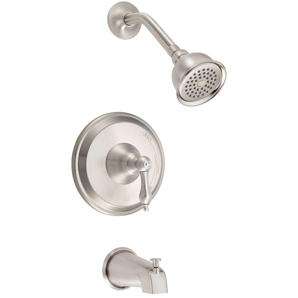 Danze Fairmont Single Handle Tub and Shower Faucet in Brushed Nickel