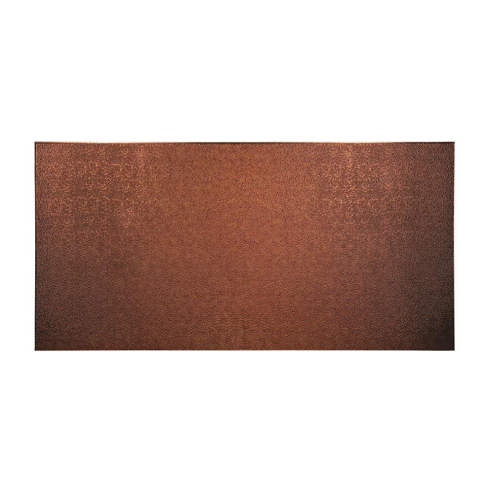 96 in. x 48 in. Hammered Decorative Wall Panel in Antique