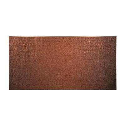 96 in. x 48 in. Hammered Decorative Wall Panel in Antique Bronze