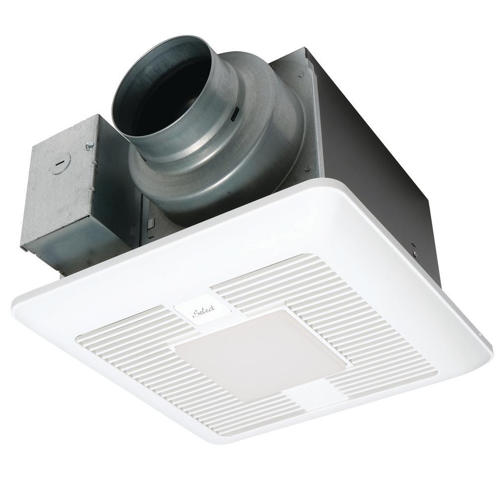 Panasonic Whisper Green Select 50 80 110 Cfm Ceiling Exhaust Bath Fan With Led Light Energy Star Fv 05 11vkl1 The Home Depot