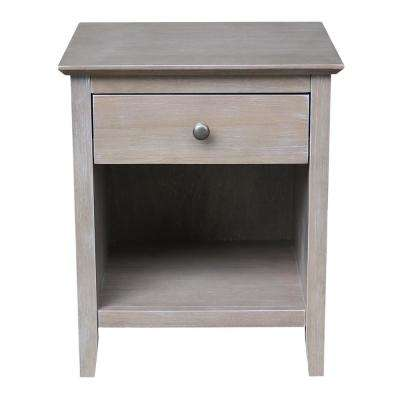 Brooklyn 1-Drawer Weathered Gray Taupe Nightstand