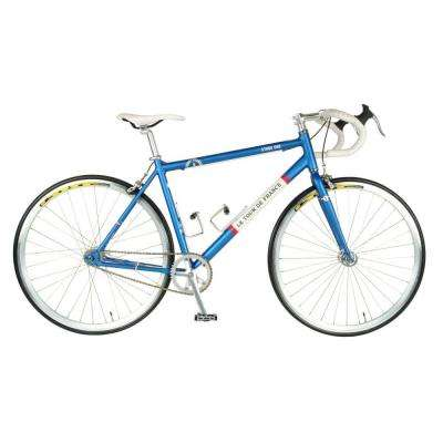 Stage One Vintage Fixie Bicycle, 700c Wheels, Men's Bike, 45 cm Frame in Blue
