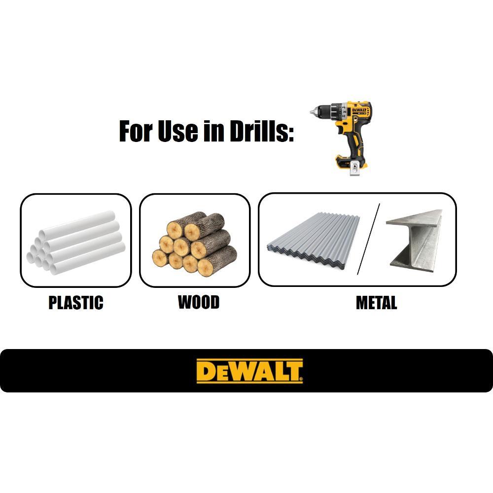 Dewalt Titanium Pilot Point Drill Bit Set 21 Piece Dw1361 The Home Depot