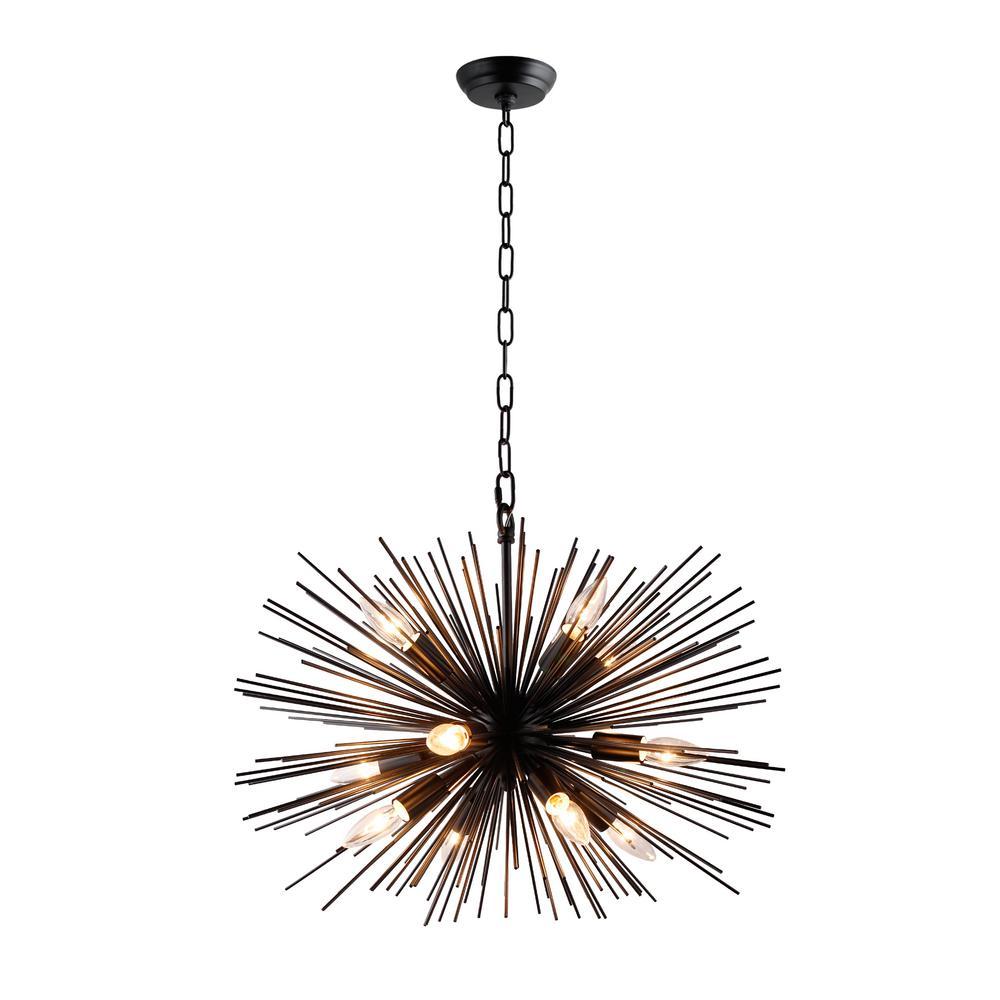 Y Decor 12 Light Black Sputnik Chandelier Lz3349 12 Ba