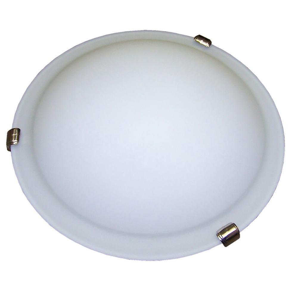 2-Light Satin Nickel Flushmount