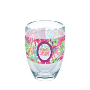 Tervis Simply Southern Sunshine Floral 9 oz. Double-Walled Tritan Stemless Wine Glass by Tervis