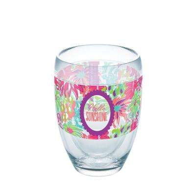 Simply Southern Sunshine Floral 9 oz. Double-Walled Tritan Stemless Wine Glass