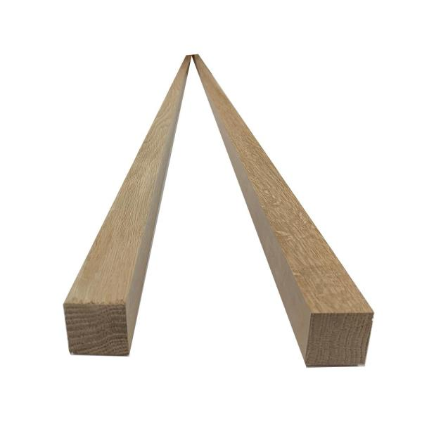 2 in. x 2 in. x 8 ft. Red Oak S4S Board (2-Pack)