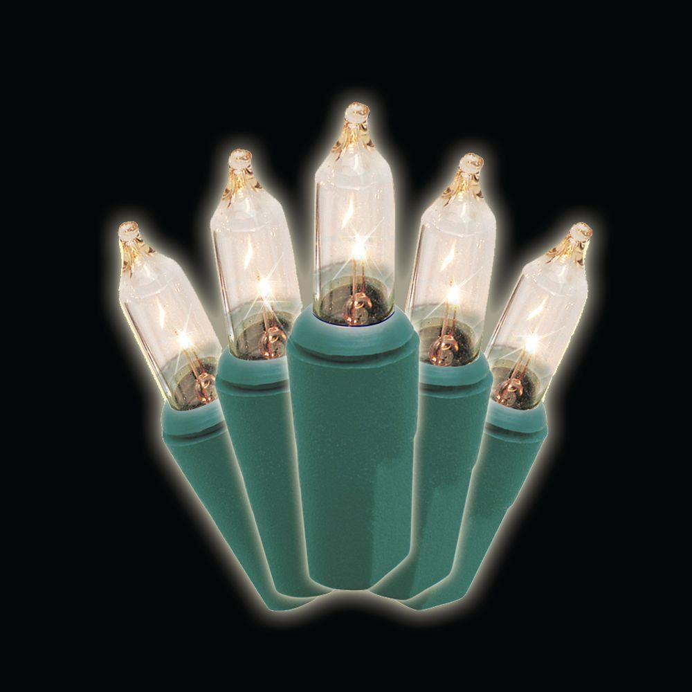 100 light clear mini lights