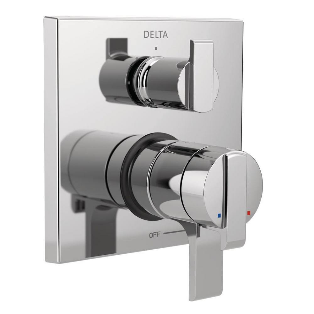 Ara Modern 2-Handle Wall-Mount Valve Trim Kit with 3-Setting Integrated Diverter