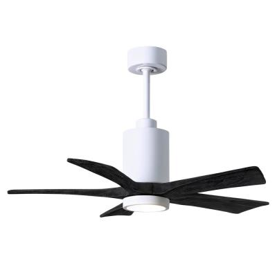 Patricia-5 42 in. Integrated LED Gloss White Ceiling Fan with Light Kit