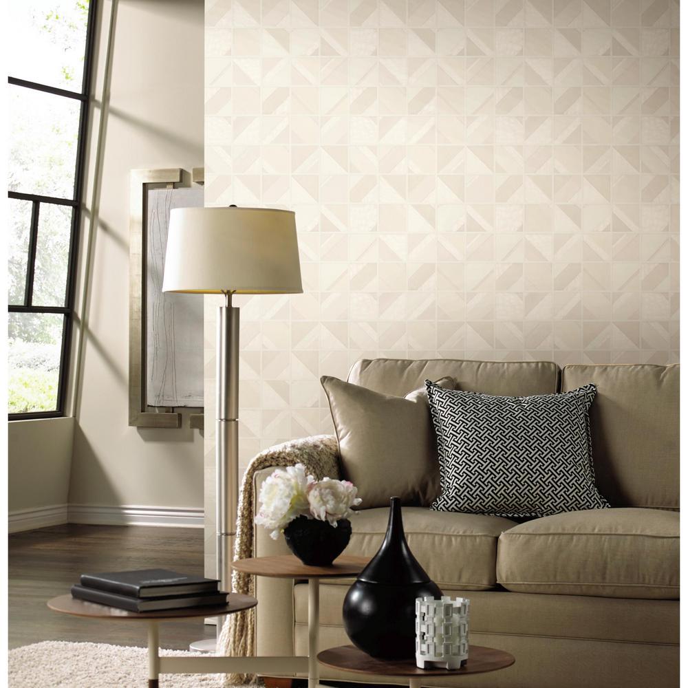 56.9 sq. ft. Patchwork Tile Wallpaper