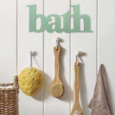 "Seafoam ""Bath"" Wooden Decorative Sign Wall Decor"