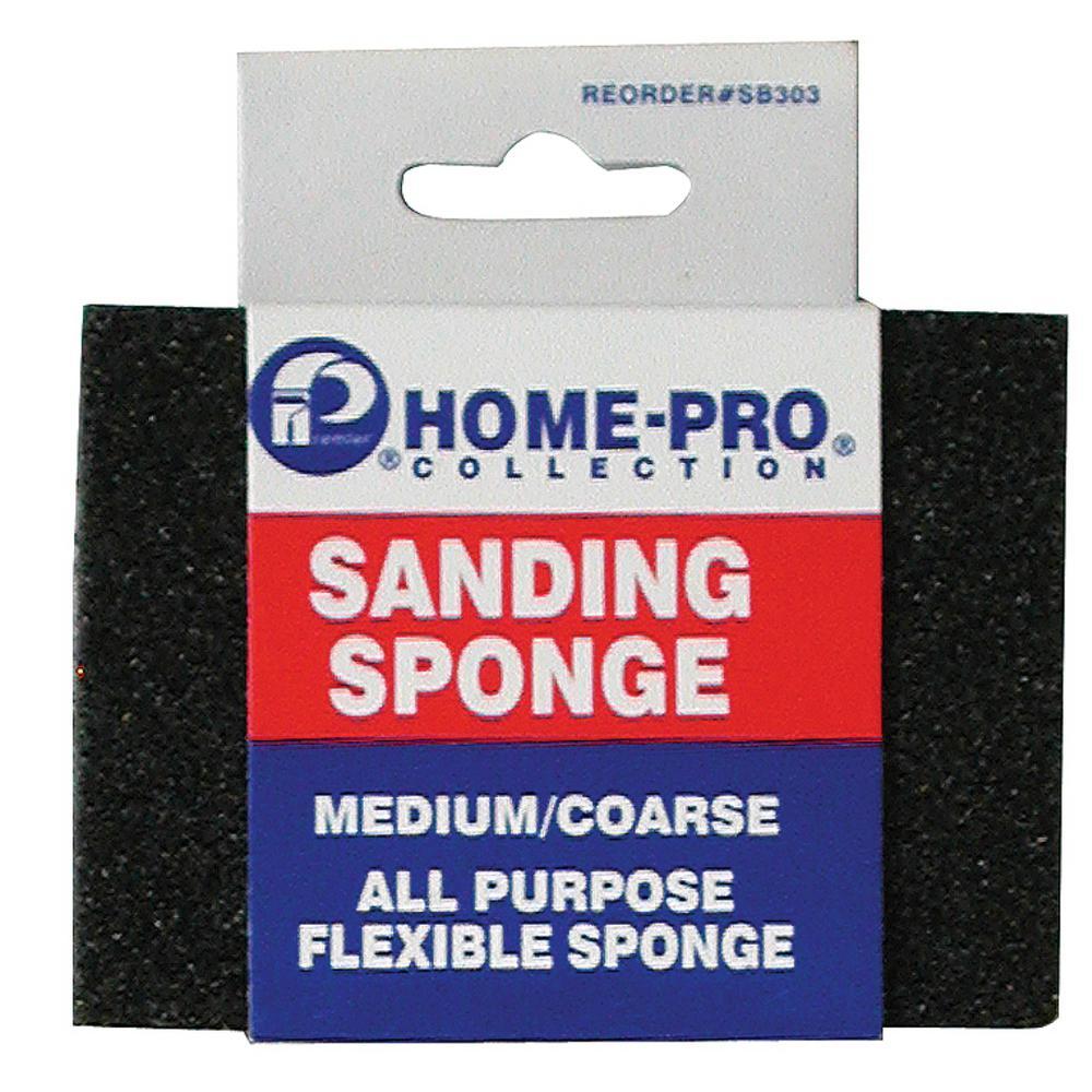 Flexible Sanding Sponge - 4 Sided Grit, Medium and Coarse (12-Pack)