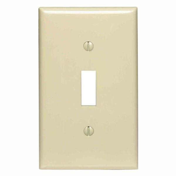 1-Gang Ivory Midway Toggle Nylon Wall Plate (10-Pack)