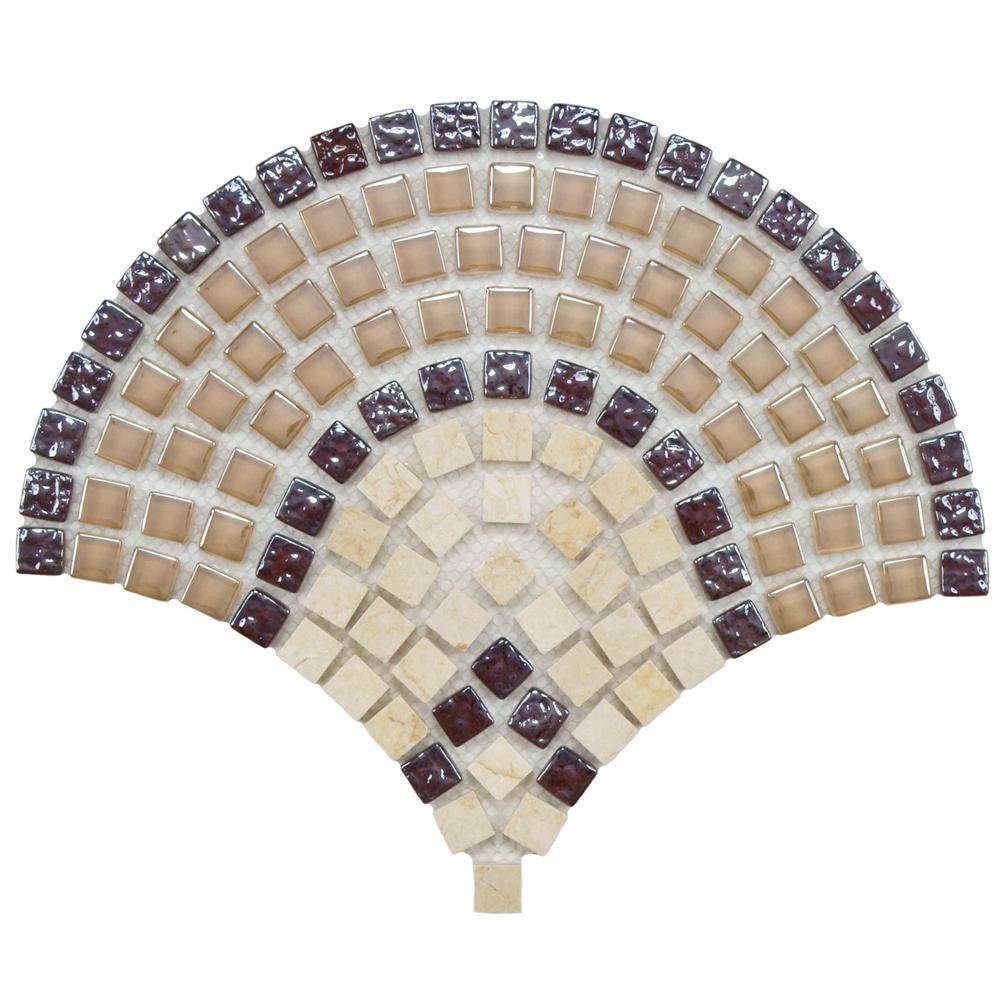 Tessera Arch Spice 9-3/4 in. x 11-3/4 in. x 8 mm