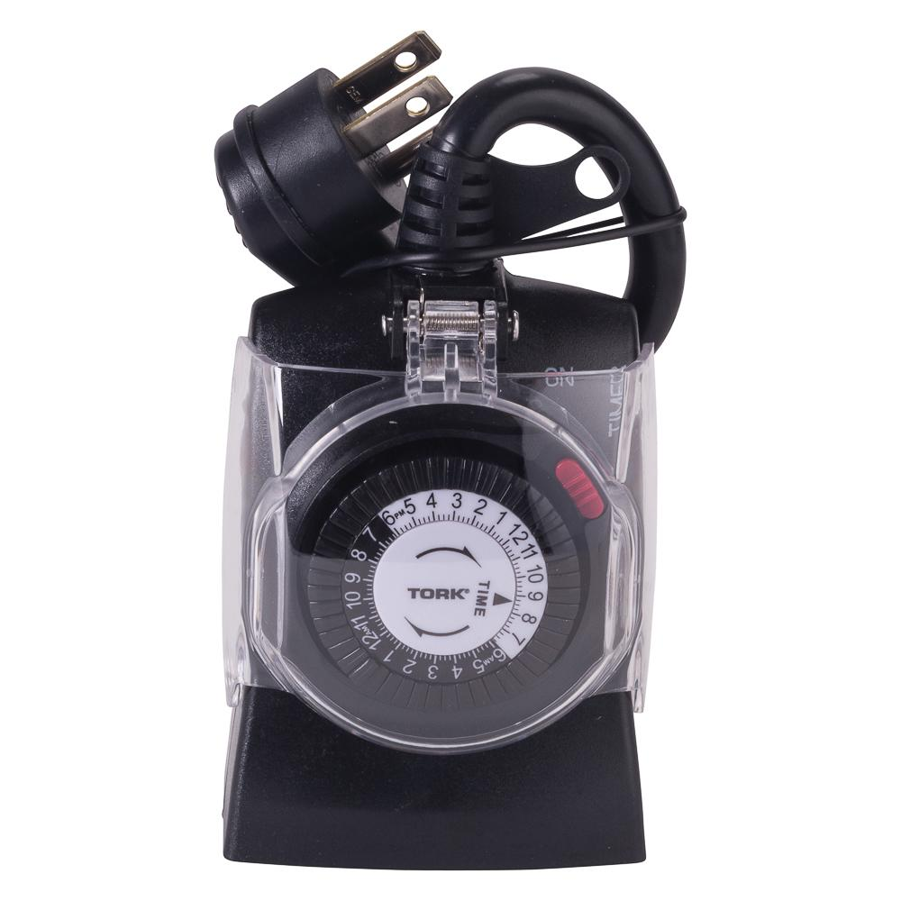 15 Amp 24-Hour Outdoor Weatherproof Plug-In Mechanical Timer with Multiple