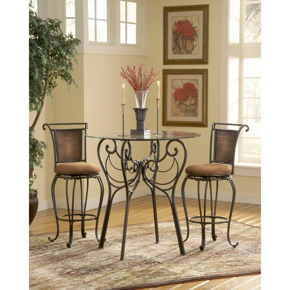 Pleasing Milan 30 In Black Copper Swivel Cushioned Bar Stool Unemploymentrelief Wooden Chair Designs For Living Room Unemploymentrelieforg