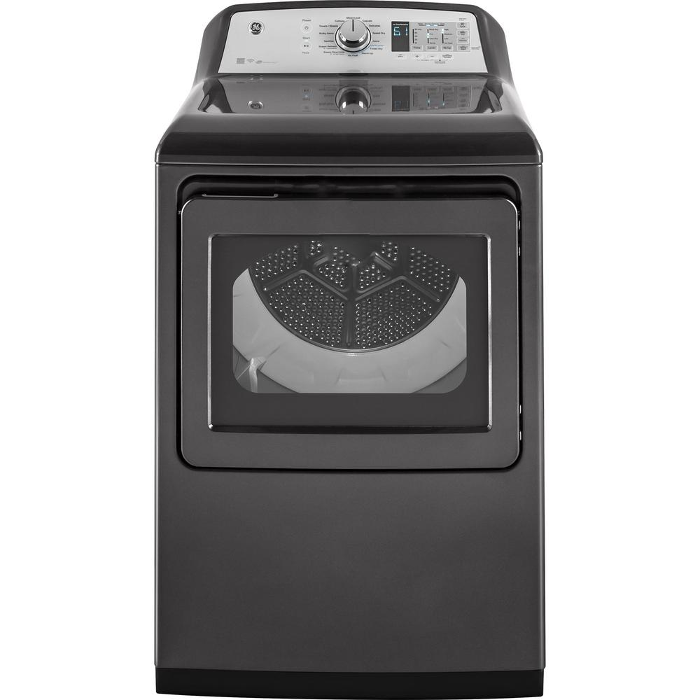 7.4 cu. ft. 240 Volt Diamond Gray Electric Vented Dryer with