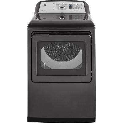7.4 cu. ft. 240 Volt Diamond Gray Electric Vented Dryer with Steam and Wifi Connected, ENERGY STAR