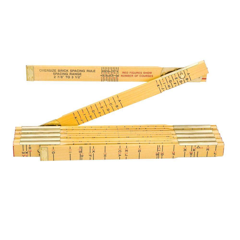 6 ft. x 5/8 in. Brick Mason Wood Ruler