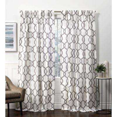 Kochi Black Pearl  Room Darkening Triple Pinch Pleat Top Curtain Panel - 27 in. W x 96 in. L  (2-Panel)