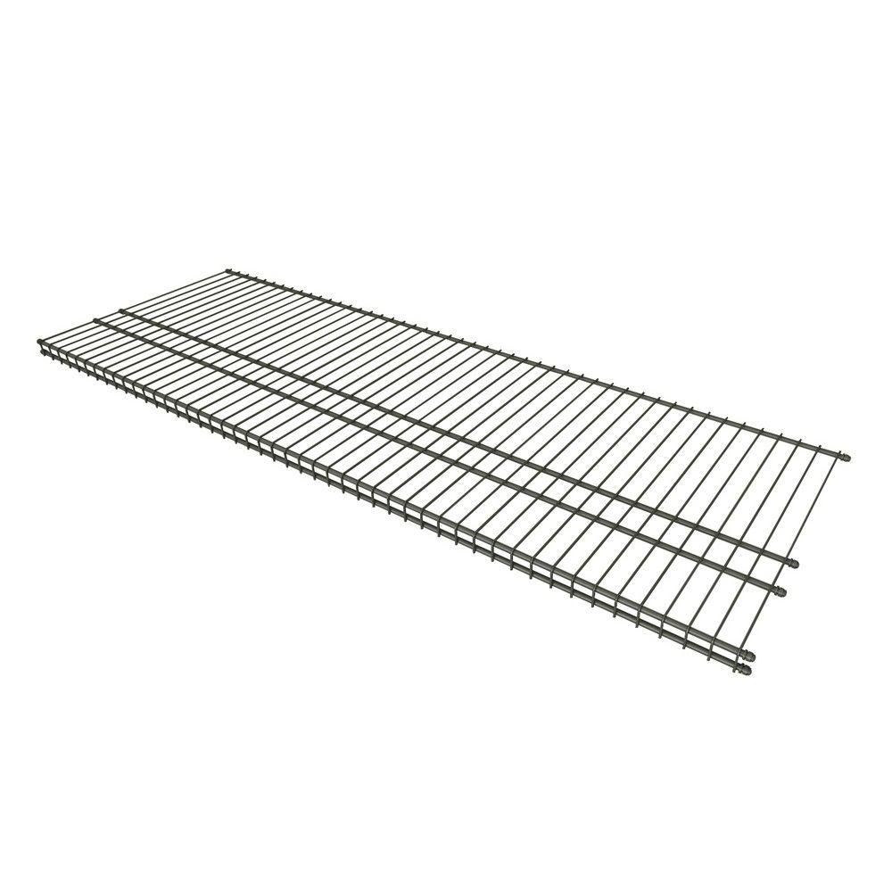 16 in. D x 48 in. W Nickel Steel Ventilated Wire