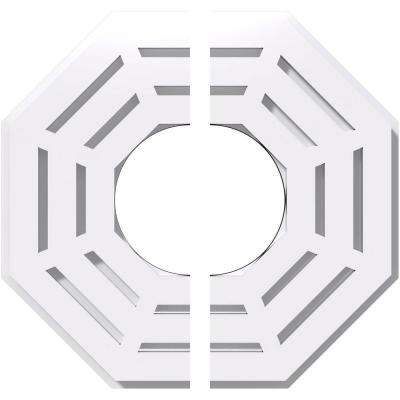 10 in. OD x 4 in. ID x 1 in. P Westin Architectural Grade PVC Contemporary Ceiling Medallion (2-Piece)