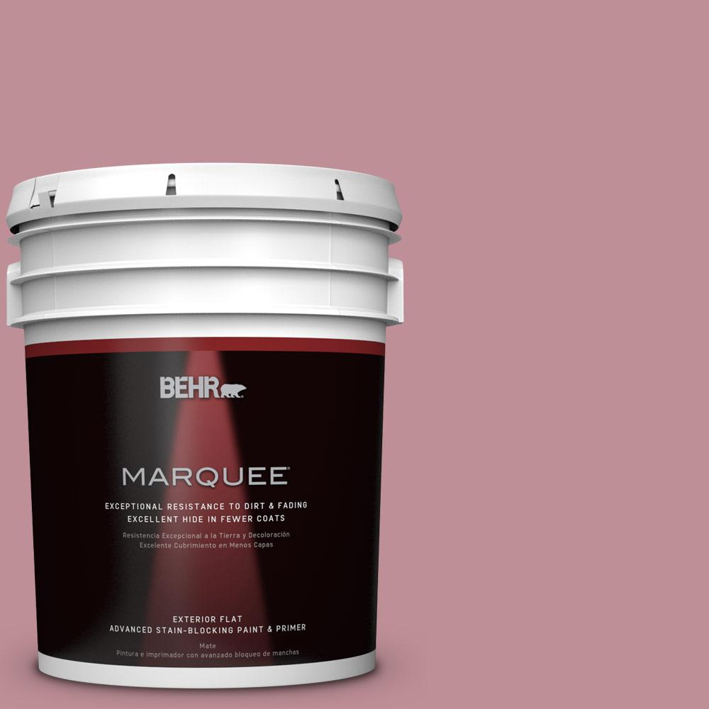 BEHR MARQUEE 5-gal. #S130-4 Cherry Juice Flat Exterior Paint