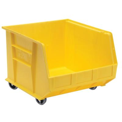 Ultra Series Stack and Hang 30 Gal. Storage Bin in Yellow (3-Pack)