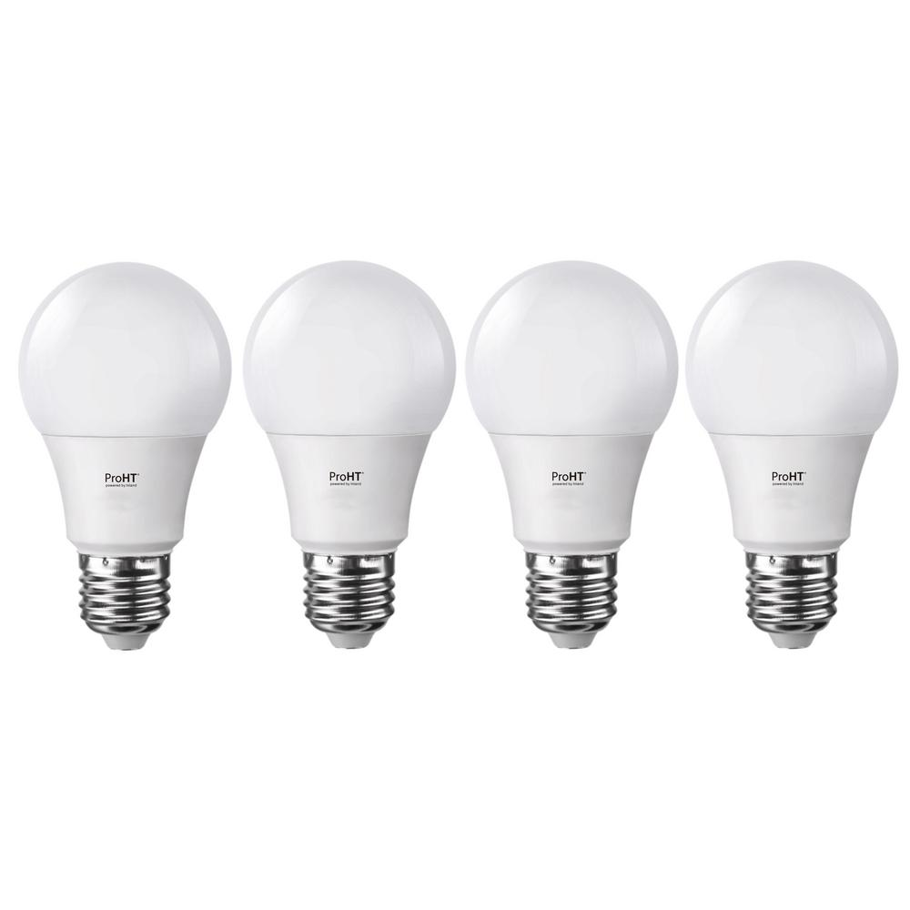 proht 60 watt equivalent soft white dimmable e26 led replacement light bulb 4 pack 88165 the. Black Bedroom Furniture Sets. Home Design Ideas