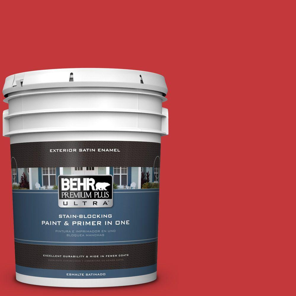 BEHR Premium Plus Ultra 5-gal. #150B-7 Poinsettia Satin E...