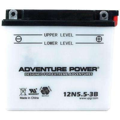 Conventional Wet Pack 12-Volt 5.5 Ah Capacity F Terminal Battery