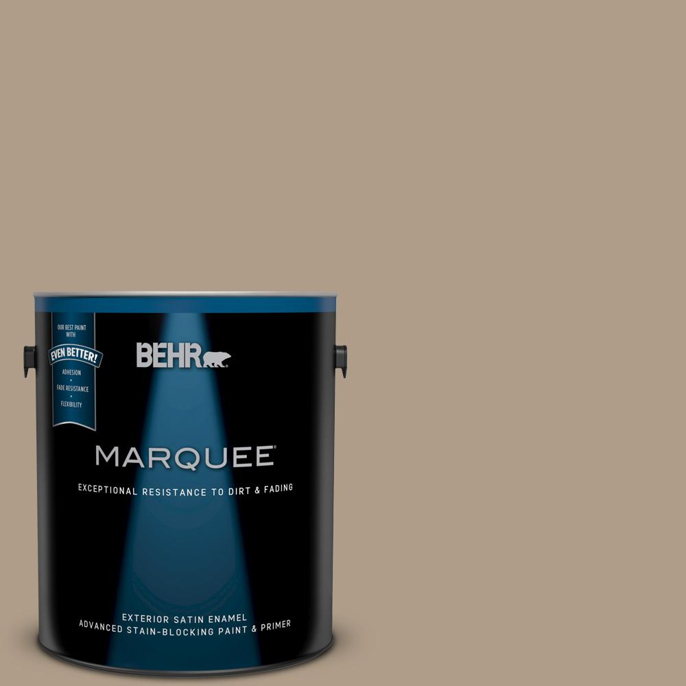 1-gal. #BNC-14 Over the Taupe Satin Enamel Exterior Paint
