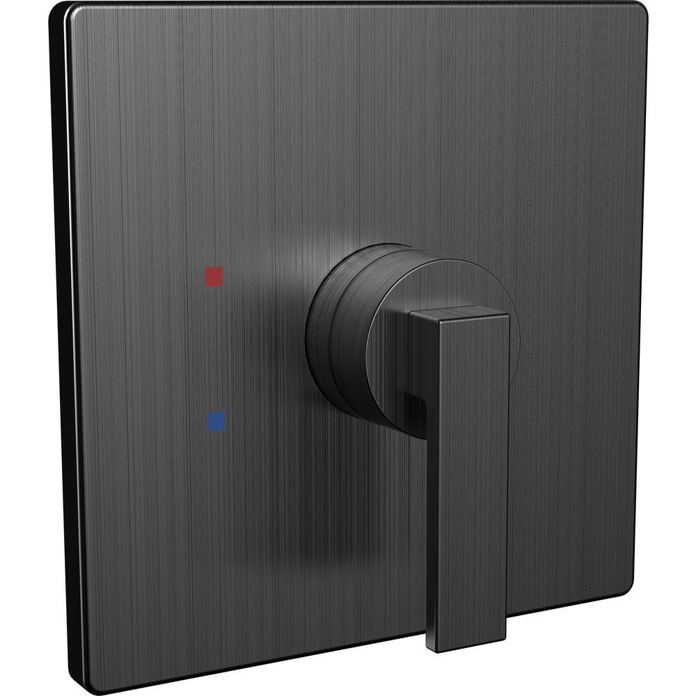 Lura 1-Handle Shower Valve Trim Kit in Matte Black (Valve Not Included)