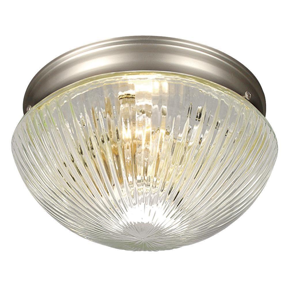 Filament Design Negron 1-Light Pewter Incandescent Flush Mount