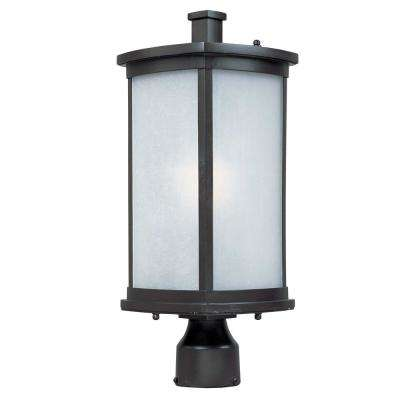 Terrace 8 in. Wide 1-Light Outdoor Bronze Post Light
