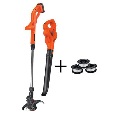 20V MAX Cordless String Trimmer and Sweeper Combo Kit (2-Tool) with 3 Bonus Spools