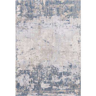 Hilamrose Navy-Blue Abstract 8 ft. 6 in. x 11 ft. 6 in. Area Rug