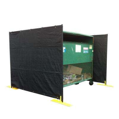 6 ft. H x 7.25 ft. W Dumpster Enclosure 3-Sided