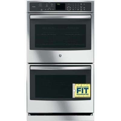 Profile 30 in. Double Electric Wall Oven with Convection (Upper Oven) Self-Cleaning in Stainless Steel