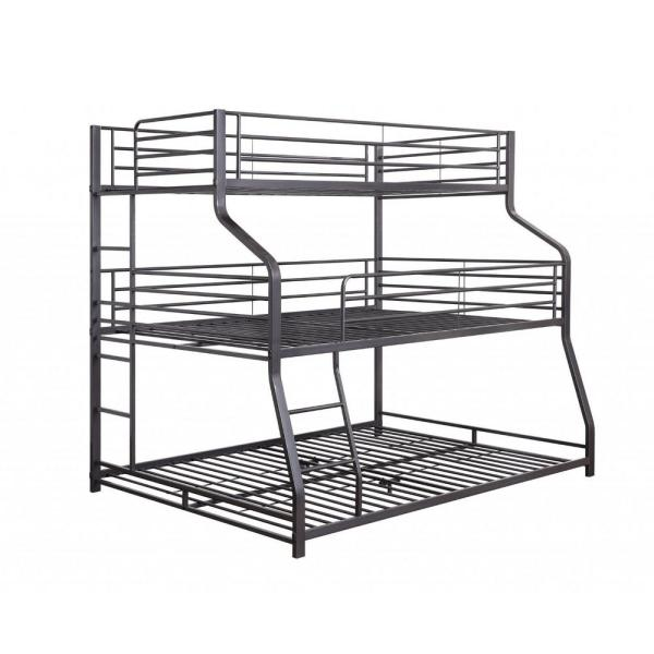 Amelia Black Queen Triple Bunk Bed