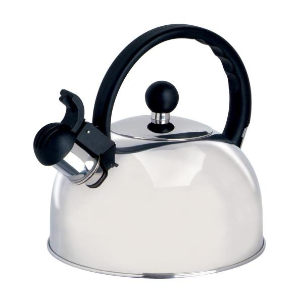 Stainless Steel Whistling Teapot Tea Coffee Pot with Infuser Cookware Silver