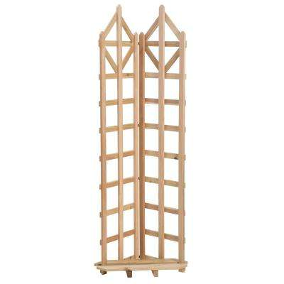 Deco 70 in. Cedar Freestanding Trellis