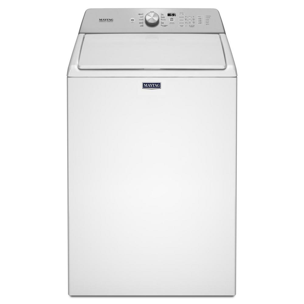 Maytag 27.5 in. 4.8 cu. ft. White Top Load Washing Machine with Deep Fill Option and PowerWash Cycle