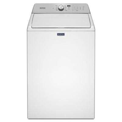 27.5 in. 4.8 cu. ft. White Top Load Washing Machine with Deep Fill Option and PowerWash Cycle