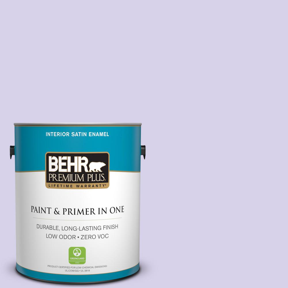 BEHR Premium Plus 1-gal. #P560-2 Air Castle Satin Enamel Interior Paint