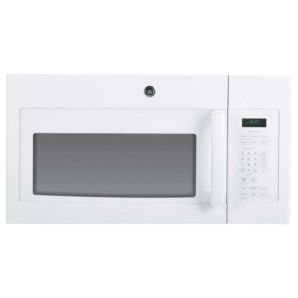 GE 1.7 cu. ft. Over the Range Microwave in White with Sensor Cooking
