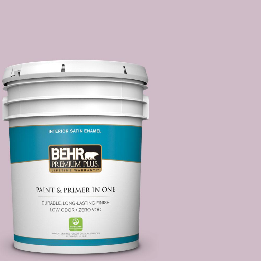 5-gal. #S110-3 Queen's Violet Satin Enamel Interior Paint