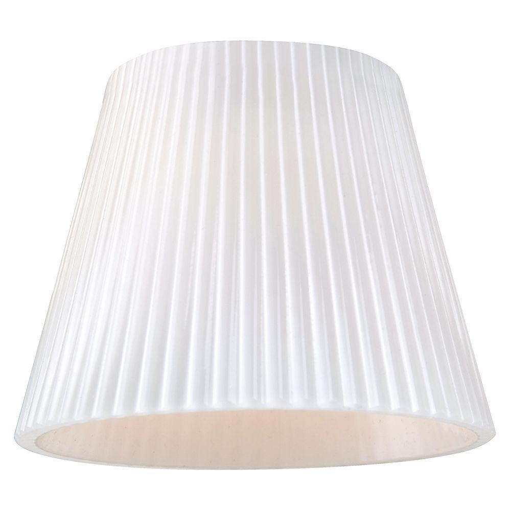 Sea Gull Lighting Ambiance Cased Opal Ribbed Glass Directional Shade